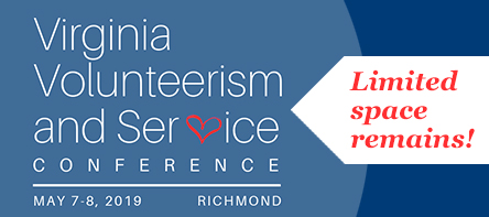Spots are Filling Up for the Virginia Volunteerism and Service Conference