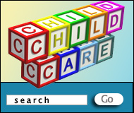 child care logo and facility search box