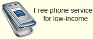 Free phone service for low-income households
