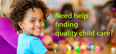 Click for help finding quality child care